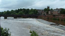 Lot of water going over the weir at the moment.