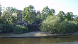 County Hall with St Mary's within the walls behind it