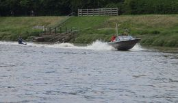 Wakeboarder from Deeside Water Ski Club at Connah's Quay