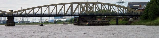 Hawarden Bridge connecting Shotton to Sealand.