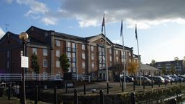 Holiday Inn is right in the middle of the National Boat Museaum, Ellesmere Port.  A historic site.