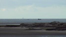 Hoylake Wreck at low water