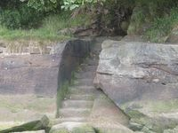 The steps down to Job's Ferry.