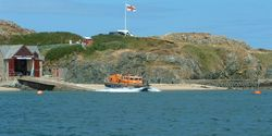 Porth Dinllaen Lifeboat having a busy time of it.