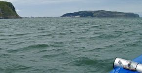 Approaching Llandudno with the Great Orme in the distance.