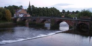 Old Dee Bridge viewed from the Chester City Walls