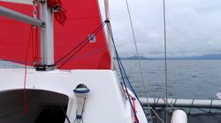 Heading towards Portmadog with the gennaker out.