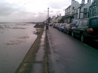 One of those rare spring tides when Parkgate actually begins to look like the port it once was.