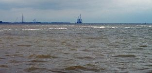 Pylons bound for the Burbo Bank wind farm