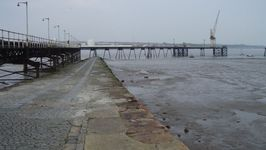 The old slipway for the Rock Ferry gives an indication of the tidal range in the Mersey.