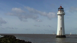 Tall ships leaving New Brighton