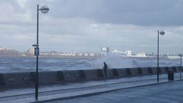 A promenader during an Irish Sea severe gale