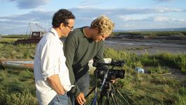 Simon Kane, director and Ben our camerman