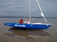 The Magnum 21 trimaran takes the ground extremely well.