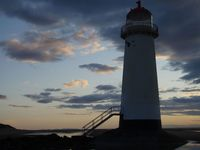 Talacre Lighthouse marking the entrance to the River Dee.