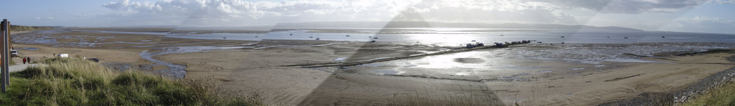 Panorama from Dee Sailing Club at Thurstaston