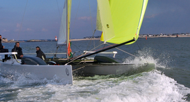 VirusBoats V8 Catamaran. Click to enlarge