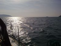 Entering Bardsey Sound