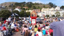 Punch & Judy on the prom at Llandudno
